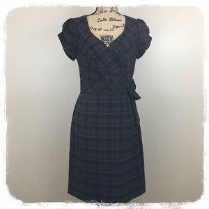Allen B. Blue/Brown Plaid Dress sz. 10